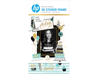 HP Moment Makers 2 x 3-in 3D Birthday Easel Frame, 6RW47A