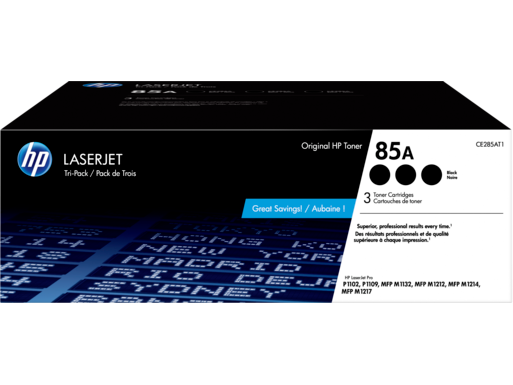 HP 85A 3-pack Black Original LaserJet Toner Cartridges