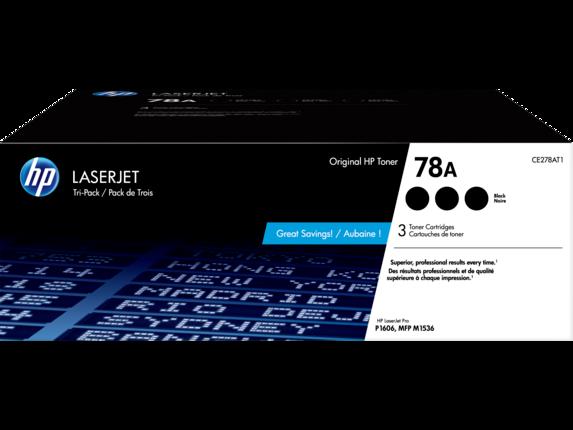 HP 78A 3-pack Black Original LaserJet Toner Cartridges