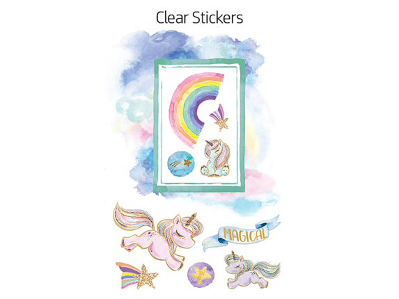 HP Moment Makers 2 x 3-in 3D Unicorn Easel Frame, 6ZU89A - Right