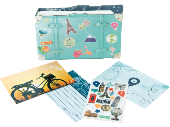 HP Moment Makers 2 x 3-in Suitcase Mini Album, 6RW41A - Right