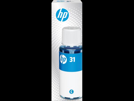 HP 31 70-ml Cyan Original Ink Bottle, 1VU26AN