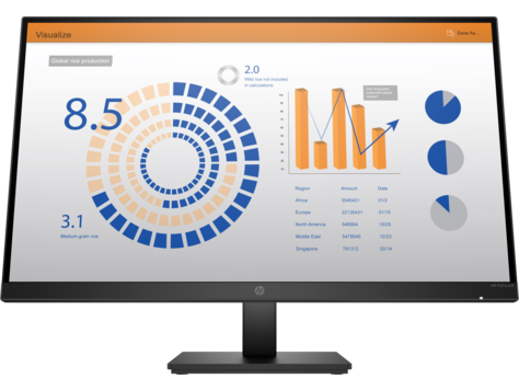 Monitor altezza regolabile HP P27q G4 QHD