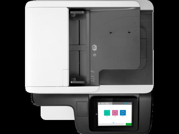 HP Color LaserJet Enterprise MFP M776dn - Top view closed
