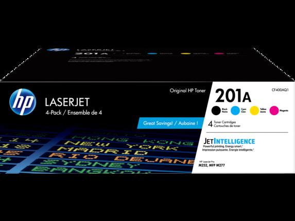 HP 201A 4-pack Black/Cyan/Magenta/Yellow Original LaserJet Toner Cartridges