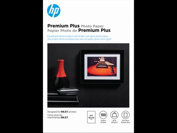 HP Premium Plus Soft-gloss Photo Paper-100 sht/4 x 6 in, CR666A