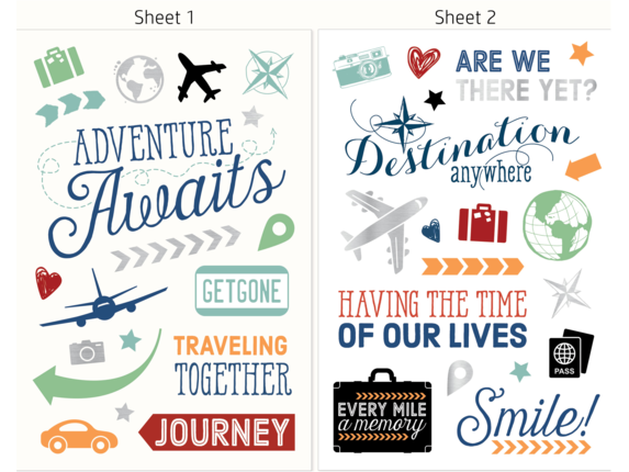 HP Moment Makers Clear Travel Stickers, 6RW46A - Rear