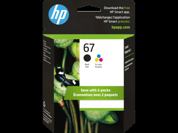 HP 67 2-pack Black/Tri-color Original Ink Cartridges 3YP29AN#140