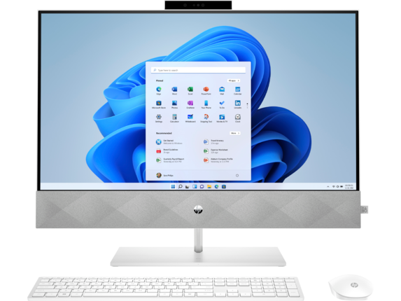 HP Pavilion All-in-One PC & Display - 27-d0255xt Touch Screen optional|Windows 10 Home|Intel® Core™ i3 10th Gen|16 GB DDR4|27