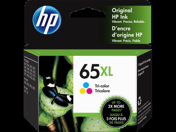 HP 65XL Tri-color Original Ink Cartridge, N9K03AN#140