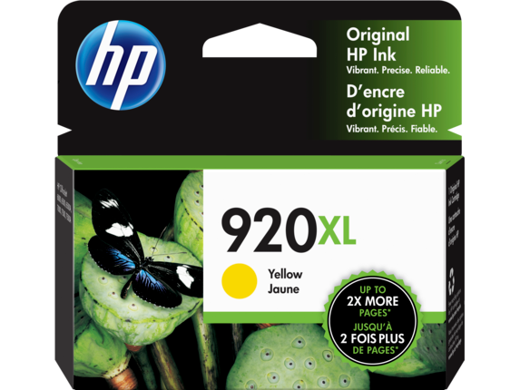 HP 920XL High Yield Yellow Original Ink Cartridge, CD974AN#140