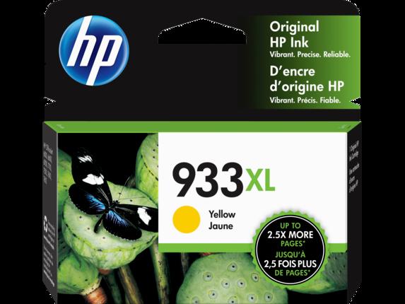 HP 933XL High Yield Yellow Original Ink Cartridge, CN056AN#140