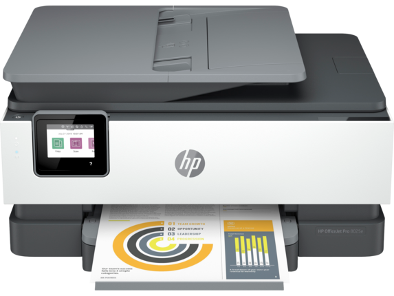 HP OfficeJet Pro 8025e All-in-One Printer with 6 months free ink through HP Plus|6.86 cm Capacitive Touchscreen CGD Color Graphic Display|1K7K3A#B1H