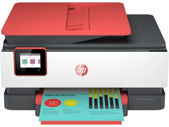 HP OfficeJet Pro 8035e All-in-One Printer with 12 months free ink through HP Plus|6.86 cm Capacitive Touchscreen CGD Color Graphic Display|1L0H8A#B1H