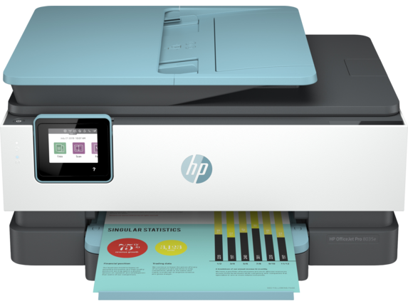 HP OfficeJet Pro 8035e All-in-One Printer with 12 months free ink through HP Plus|6.86 cm Capacitive Touchscreen CGD Color Graphic Display|1L0H7A#B1H