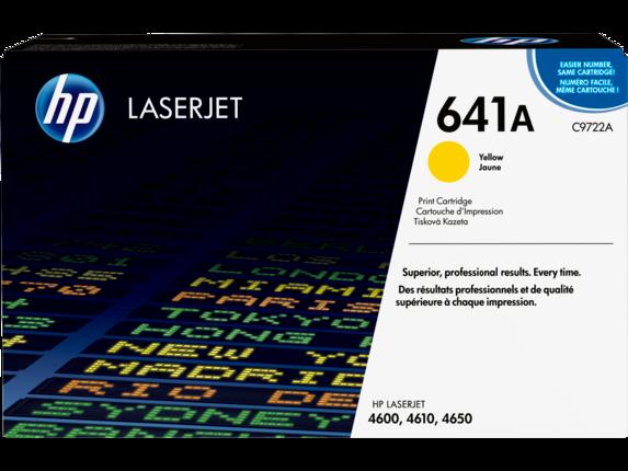 HP 641A Yellow Original LaserJet Toner Cartridge, C9722A