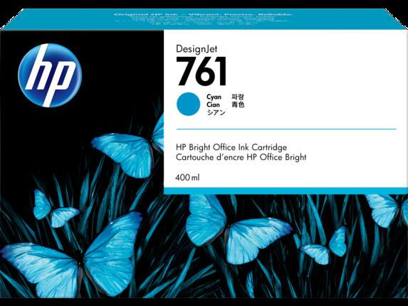 HP 761 400-ml Cyan DesignJet Ink Cartridge, CM994A