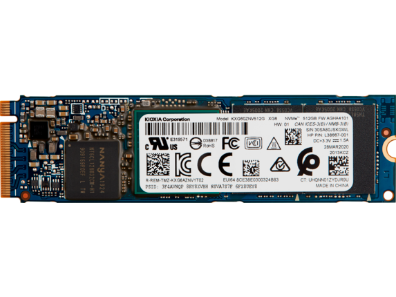 HP 512 GB PCI-e 3x4 NVMe M2 Solid State Drive 1D0H7UT#ABA