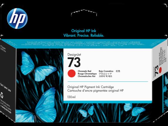 HP 73 130-ml Chromatic Red DesignJet Ink Cartridge, CD951A