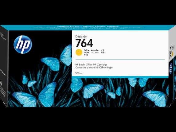 HP 764 300-ml Yellow DesignJet Ink Cartridge, C1Q15A