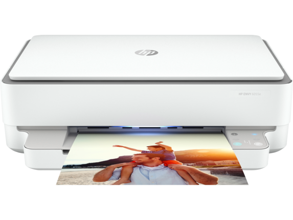HP ENVY 6055e All-in-One Printer with 6 months free ink through HP Plus|223N1A#B1H
