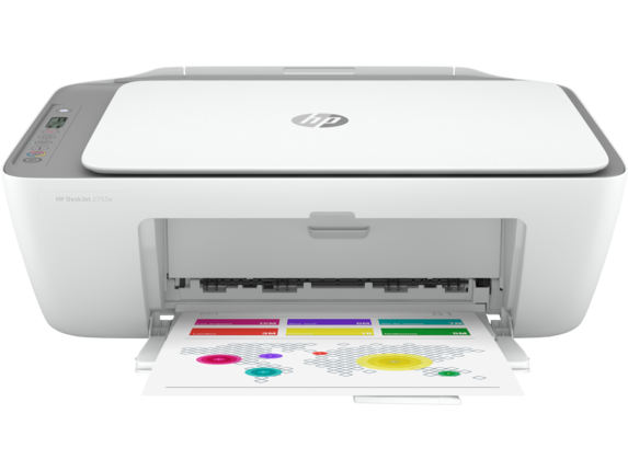 HP DeskJet 2755e All-in-One Printer with 6 months free ink through HP Plus|ICON LCD Display|26K67A#B1H
