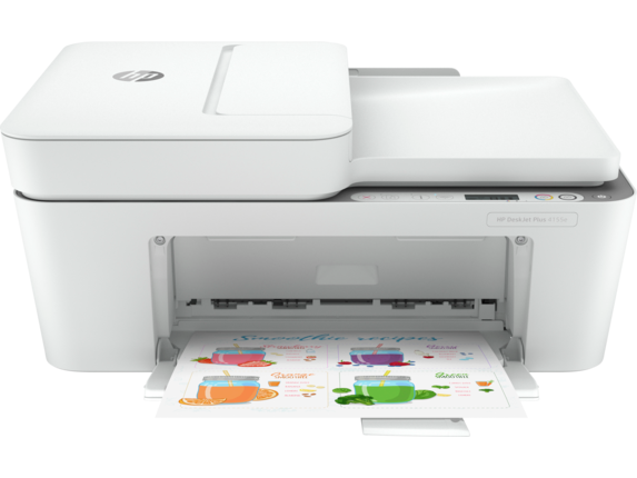 HP DeskJet 4155e All-in-One Printer with 6 months free ink through HP Plus|LCD ICON Display|26Q90A#B1H