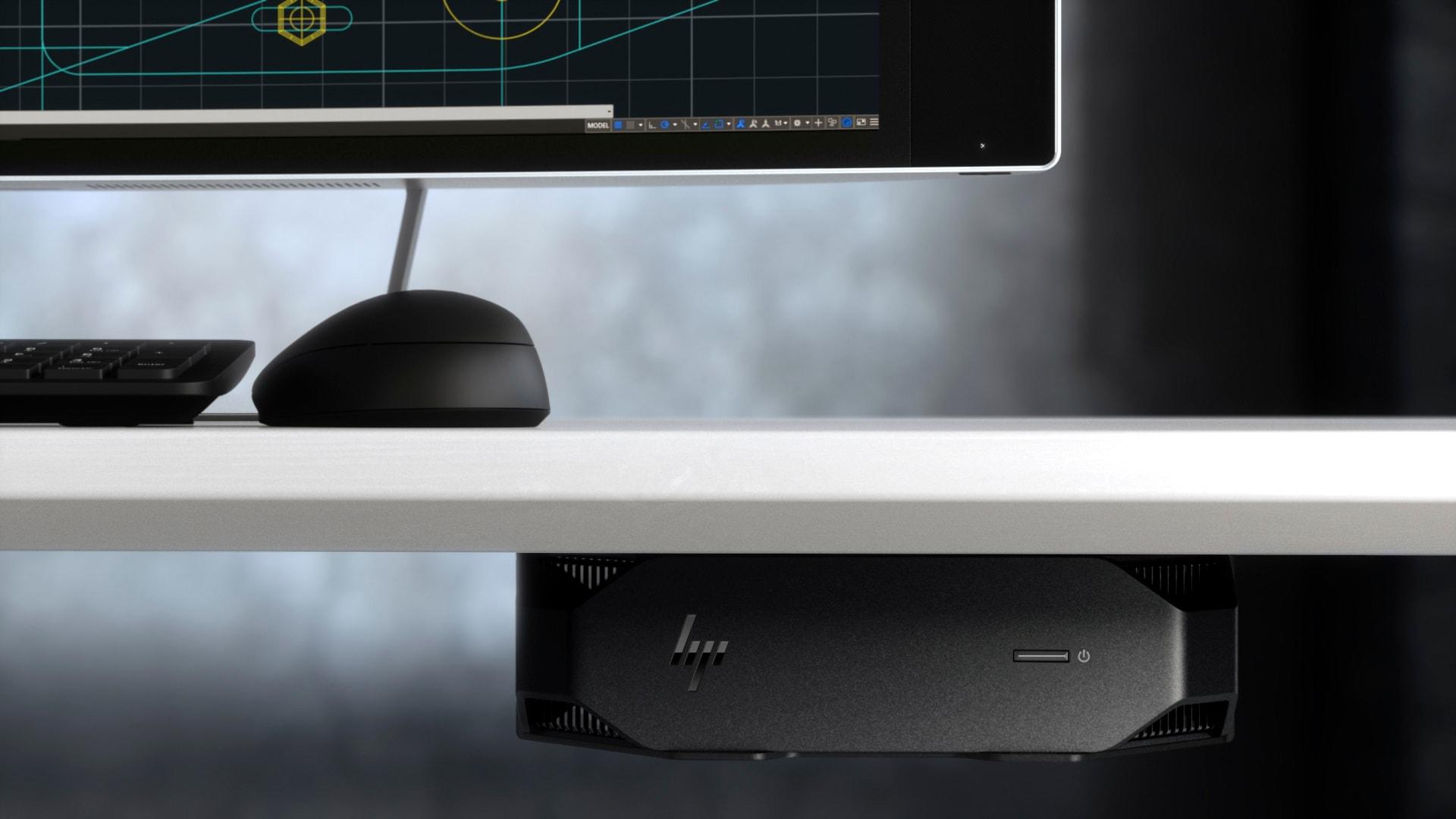 HP Workstation Z2 Mini G5 12M14EA CI9/10900-2.8GHz 32GB 512GB NVIDIA Quadro T2000 4GB W10P mini asztali munkaállomás / PC