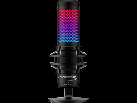 HyperX QuadCast S - USB Microphone (Black-Grey) - RGB Lighting|4P5P7AA|HP