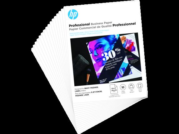 HP Professional Business 8.5x11 50 sht Glossy FSC|6MF93A
